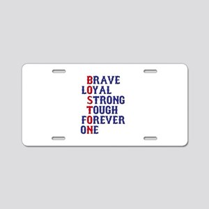 Boston Meaning Aluminum License Plate