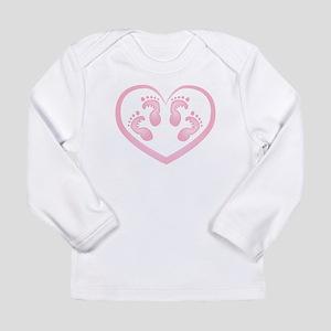 Baby Girl Twins Footprints Long Sleeve T-Shirt