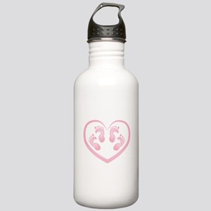 Baby Girl Twins Footpr Stainless Water Bottle 1.0L