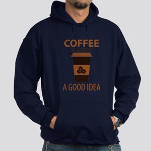 Coffee Is Always A Good Idea Hoodie (dark)