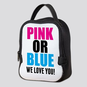 Pink Or Blue We Love You! Neoprene Lunch Bag