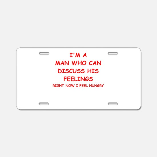 feelings Aluminum License Plate