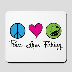 Peace Love Fishing Mousepad