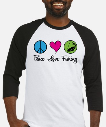 Peace Love Fishing Baseball Jersey