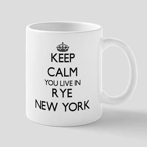 Keep calm you live in Rye New York Mugs