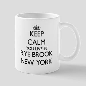 Keep calm you live in Rye Brook New York Mugs