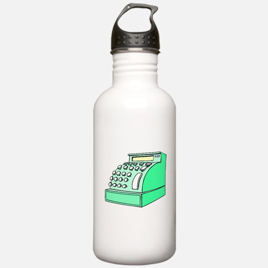 Old Cash Register Water Bottle