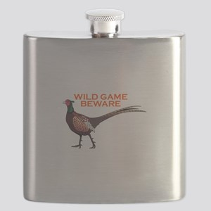 WILD GAME BEWARE Flask