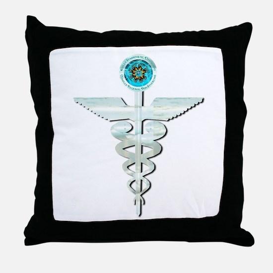 CRPS RSD Awareness Glacier Caduceus Throw Pillow