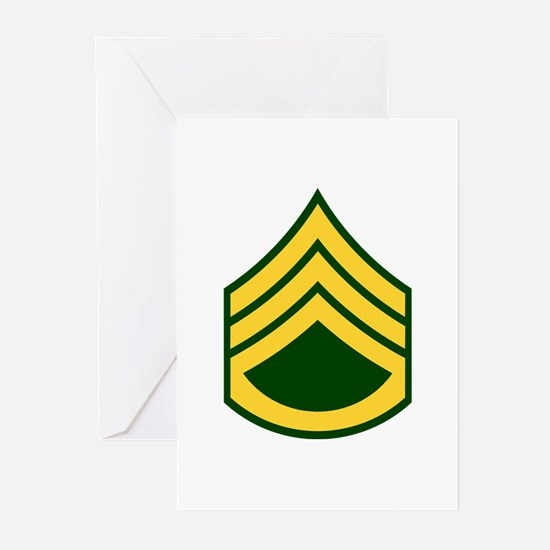 "Army E6 ""Class A's"" Greeting Cards (Pk of 10)"