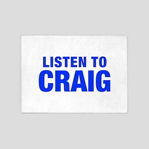 LISTEN TO CRAIG-Hel blue 400 5'x7'Area Rug