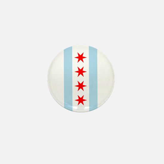 Chicago Flag Mini Button