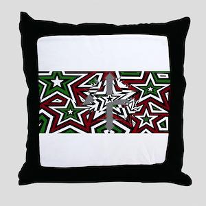 24 Thorns remix Op-Art Throw Pillow