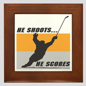 He Shoots...He Scores! Framed Tile