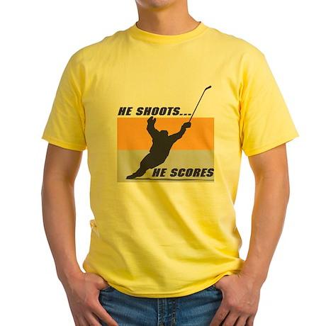 He Shoots...He Scores! Yellow T-Shirt