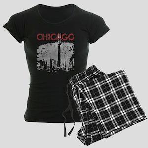 Chicago Skyline Women's Dark Pajamas