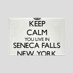 Keep calm you live in Seneca Falls New Yor Magnets