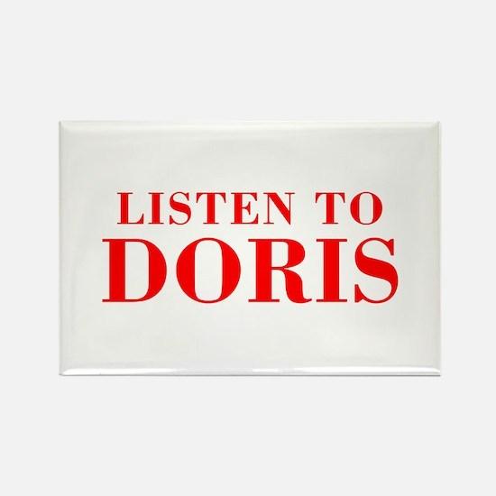 LISTEN TO DORIS-Bod red 300 Magnets