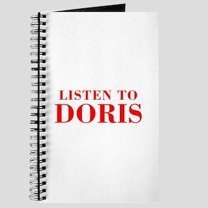LISTEN TO DORIS-Bod red 300 Journal