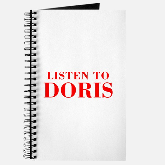 LISTEN TO DORIS-Bod red 300 Journal