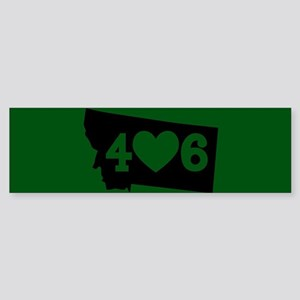 Oregon 406 Green Sticker (Bumper)