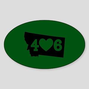 Oregon 406 Green Sticker (Oval)