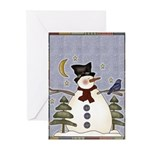 Snowman and Bluebird Greeting Cards (Pk of 10)