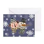 Ragdoll & Snowman Greeting Cards (Pk of 10)