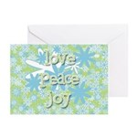 Retro Holiday Greeting Cards (Pk of 10)