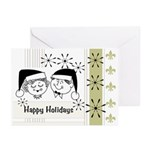 Retro Happy Holidays Greeting Cards (Pk of 10)