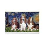 Starry Basset Rectangle Magnet