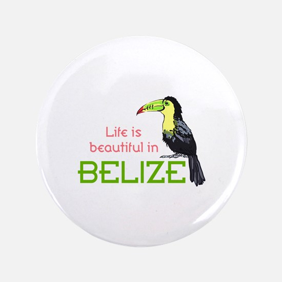 """TOUCAN LIFE IN BELIZE 3.5"""" Button"""