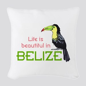 TOUCAN LIFE IN BELIZE Woven Throw Pillow
