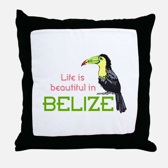 TOUCAN LIFE IN BELIZE Throw Pillow