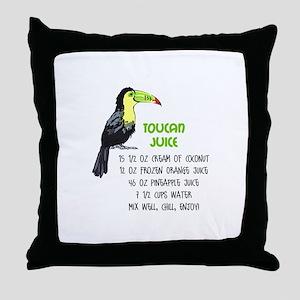 TOUCAN JUICE RECIPE Throw Pillow