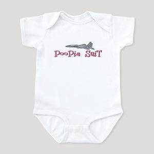 Poopie Suit -pink Infant Bodysuit