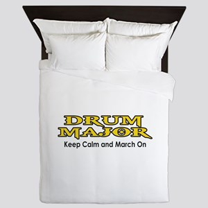 KEEP CALM MARCH ON Queen Duvet