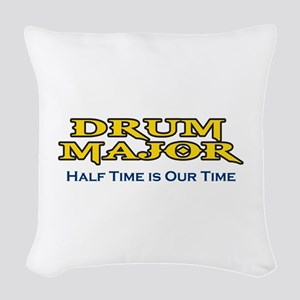 HALF TIME IS OUR TIME Woven Throw Pillow