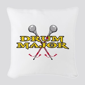 DRUM MAJOR WITH BATONS Woven Throw Pillow
