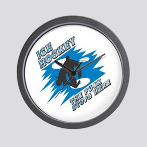 The Puck Stops Here Wall Clock