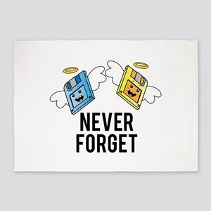 Never Forget - Floppys 5'x7'Area Rug