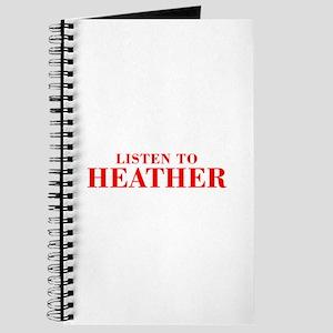 LISTEN TO HEATHER-Bod red 300 Journal