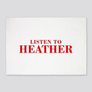 LISTEN TO HEATHER-Bod red 300 5'x7'Area Rug