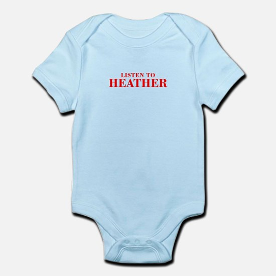LISTEN TO HEATHER-Bod red 300 Body Suit