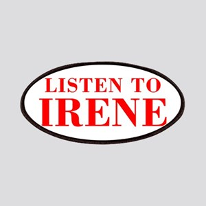 LISTEN TO IRENE-Bod red 300 Patch
