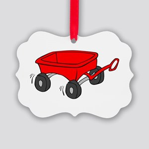 Toy Red Wagon Picture Ornament