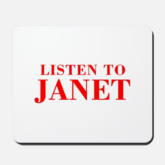 LISTEN TO JANET-Bod red 300 Mousepad
