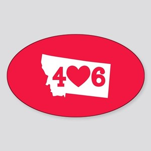 Oregon 406 Red Sticker (Oval)