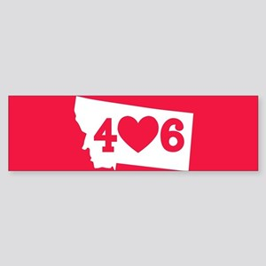 Oregon 406 Red Sticker (Bumper)