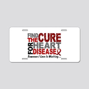Heart Disease Find the Cure Aluminum License Plate